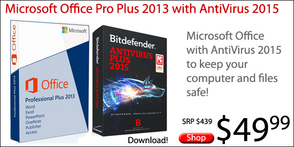 Microsoft Office with AntiVirus - $49.95