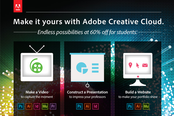 Adobe Creative Cloud - Photoshop and more!! Save 60% off retail.