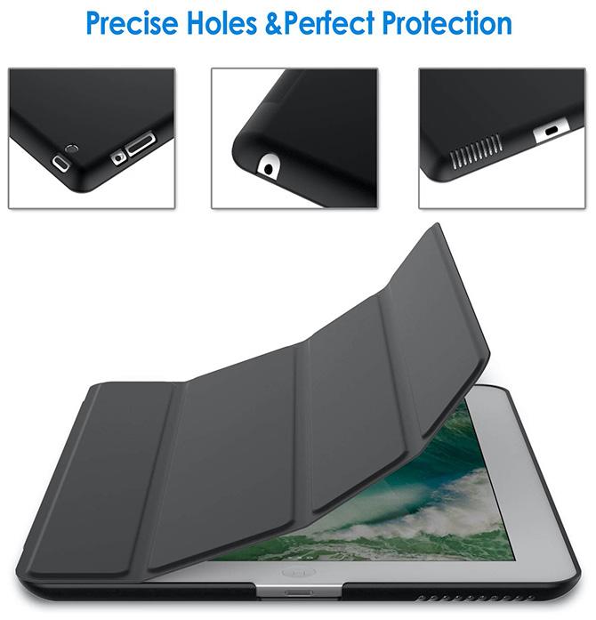 Black Smart Cover with Auto Sleep//Wake JETech Case for Apple iPad Mini 4